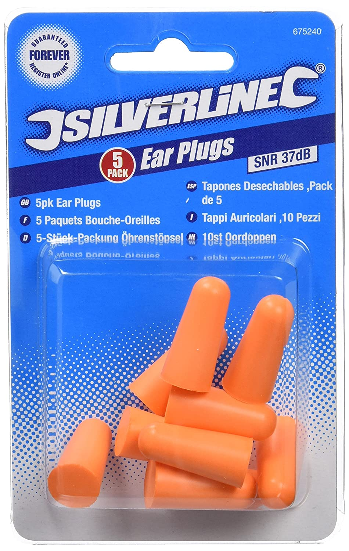 Silverline 675240 - Tapó n para los oí dos,  37dB Toolstream