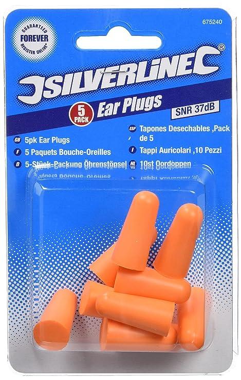 Silverline 675240 - Tapón para los oídos, 37dB