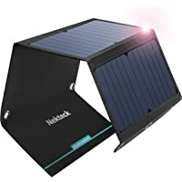 Nekteck 21W Solar Charger(5V/3A Max) with 2 USB Port, IPX4 Waterproof Portable and Foldable Hiking Camping Gear SunPower…