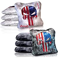 Local Bags Cornhole - Mamba Series - Set of 8 Bags- ACL Approved Resin Filled - Double Sided - Sticky Side/Slick Side Made in USA