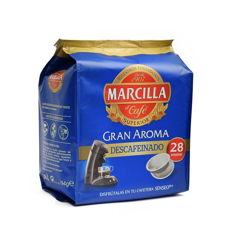 Marcilla Senseo Descafeinado - 28 Monodosis: Amazon.es ...