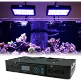 "LED Aquarium Light Fixture for Saltwater/Coral Tanks - Euphotica Dimmable 16"", Programmable 16"" / 24"" / 32"""