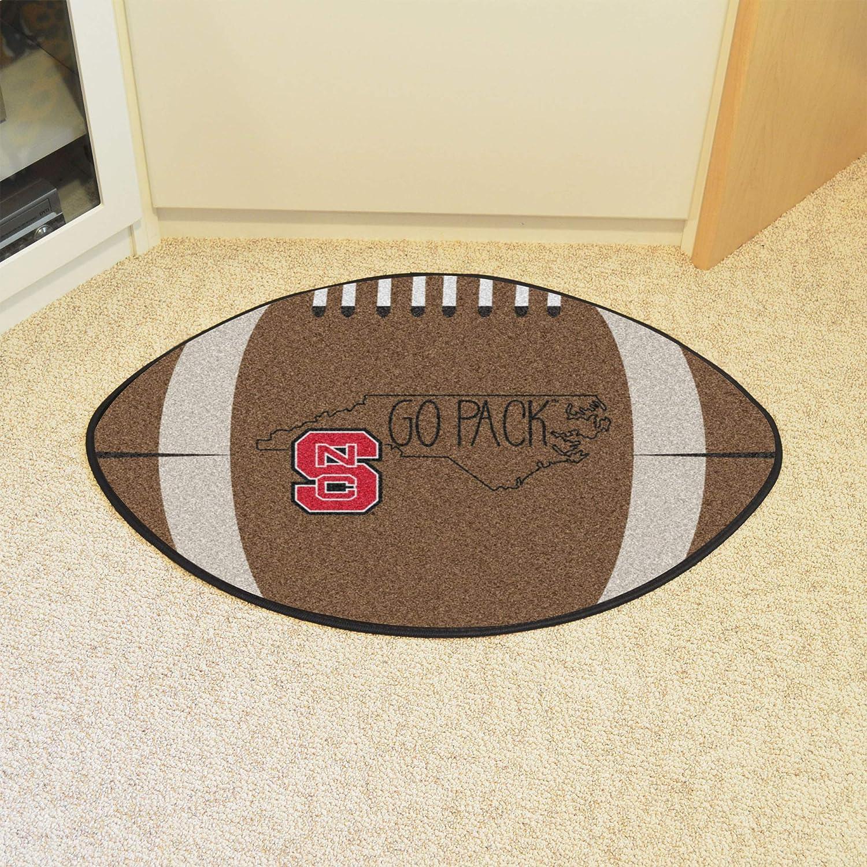 on sale 58456 f763f Amazon.com  NCAA North Carolina State University Wolfpack Football Shaped  Mat Area Rug  Kitchen   Dining