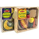 Beautiful Wooden Kids Cutting Food & Fruit Sets by Melissa and Doug