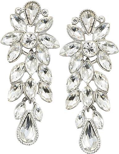 Mode Ohrringe aus Ohrringen Gold Silber Farbe Statement Big Metal Flower