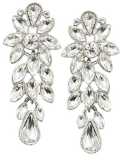 Vintage Ohrstecker Boho Damen Ohrringe Ohrschmuck Modeschmuck Glas Blumen Mode