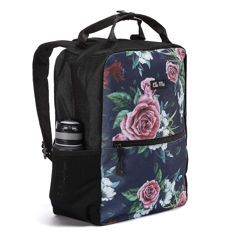 Floral Print geblümter Rucksack Laptopfach