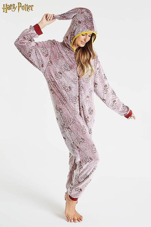 HARRY POTTER Pijama de Una Pieza para Mujer Que Brilla en La ...