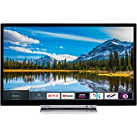 Toshiba 32D3863DB 32-Inch HD Ready Smart TV with Freeview Play and Built-In DVD Player - Chrome Black/Silver (2018 Model), enabled with Amazon Dash Replenishment