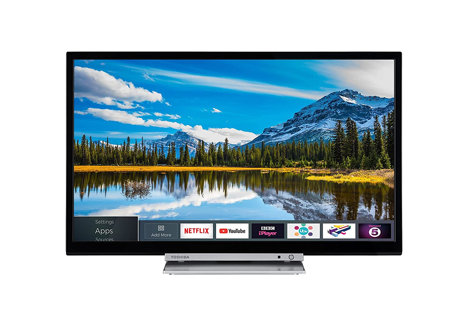 49de08e49ec Toshiba 24D3863DB 24-Inch HD Ready Smart TV Freeview Play Built In ...