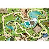 Tierpark / Zoo Spielmatte (Spielteppich) für das Kinderzimmer - SM04 - Maße: ca. 150 x 100 cm