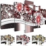 Quadro 200x100 cm - Tre colori da scegliere - 5 Parti - Grande Formato - Quadro su tela fliselina - Stampa in qualita fotografica - Fiori b-A-0266-b-o 200x100 cm B&D XXL