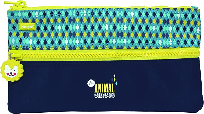 Milan Circus Estuches, 22 cm, 0.6 litros, Azul: Amazon.es: Equipaje