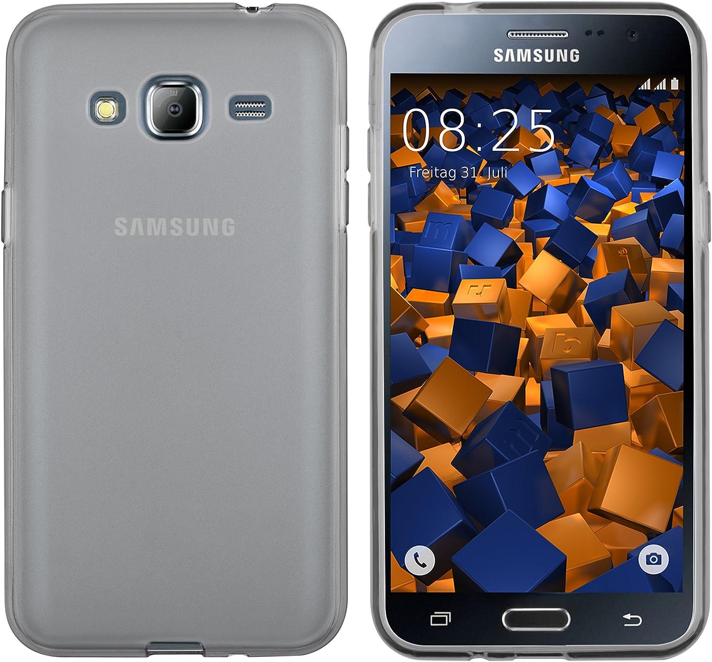 mumbi Funda Compatible con Samsung Galaxy J3 2016 Caja del teléfono móvil, Negro Transparente