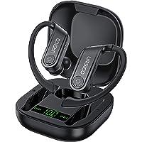 URSICO Sportowe słuchawki Bluetooth 5.0, słuchawki douszne, CVC 8.0 HiFi Stereo Sound, 10 + 50 godzin czasu odtwarzania…