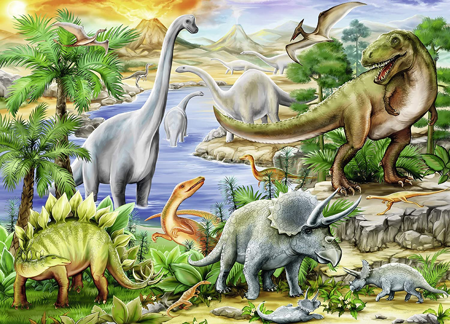 Ravensburger Prehistoric Life 60 Piece Jigsaw Puzzle for Kids – Every Piece is Unique, Pieces Fit Together Perfectly