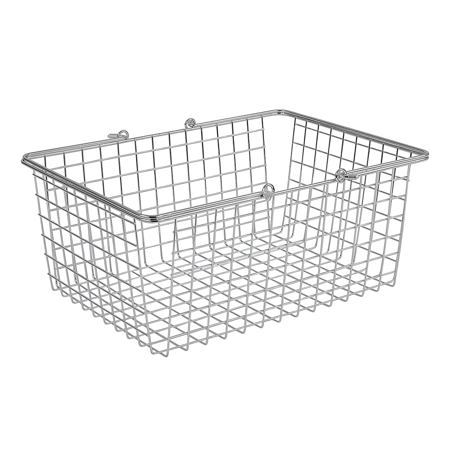 Spectrum Diversified Wire Storage Basket, Large, Chrome 43470