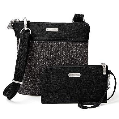 9b1b89f76d43e Baggallini Anti-Theft Slim Crossbody Bag - Stylish Long-Strap Purse With  Locking Zippers