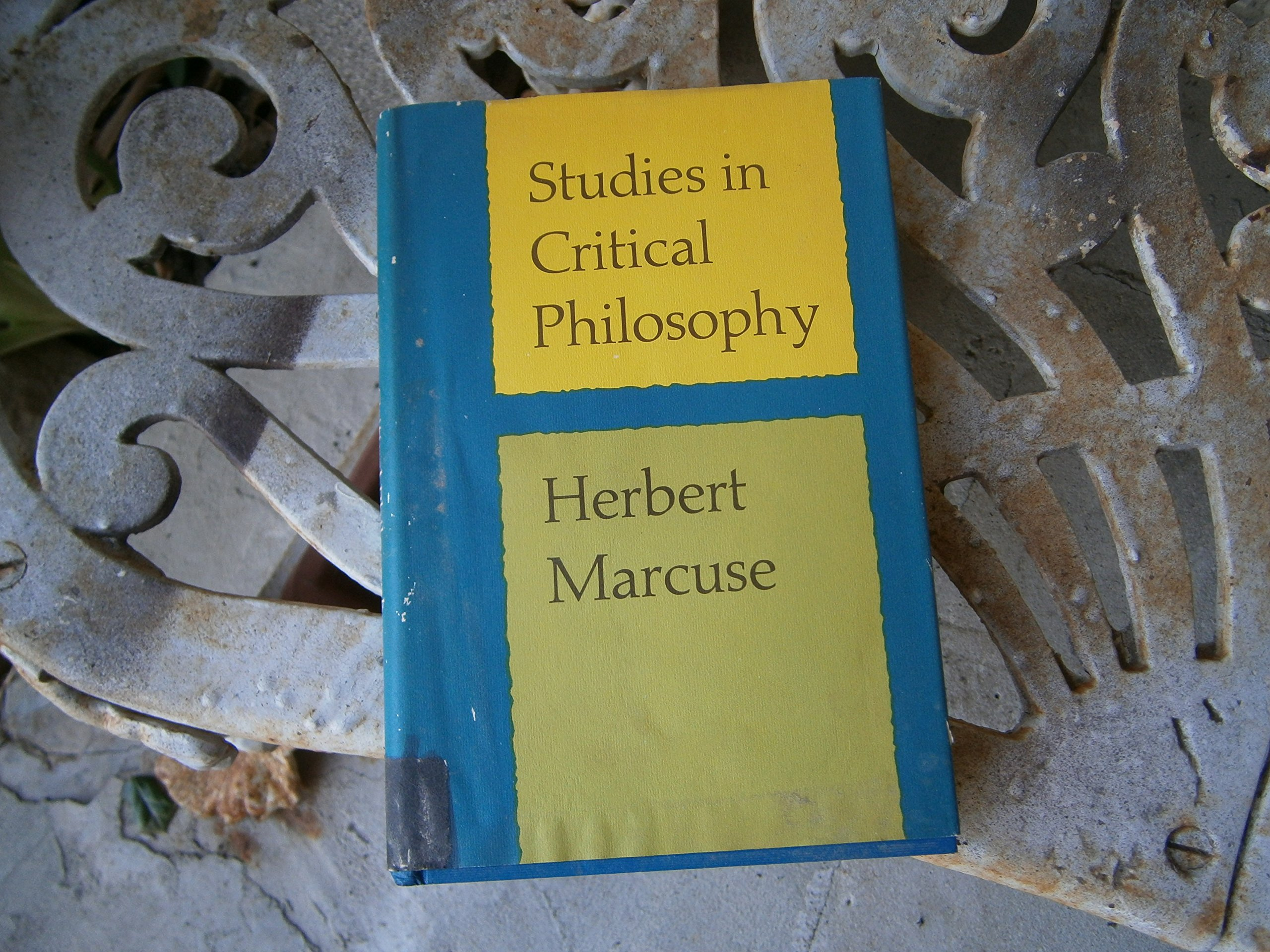 Studies in critical philosophy, Marcuse, Herbert