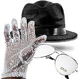 Michael JACKSON Lisse Criminal Chapeau /& Sequin Gant Musique Pop Déguisement