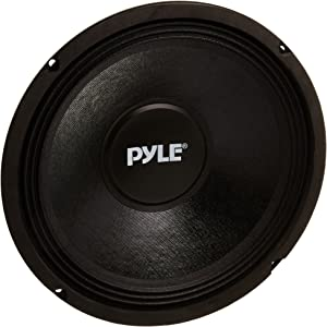 10 Inch Car Midbass Woofer - 600 Watt High Powered Car Audio Sound Component Speaker System w/High-Temperature Kapton Voice Coil, 50Hz-5kHz Frequency, 89.2 dB, 8 Ohm, 50 oz Magnet - PylePro PPA10,Black