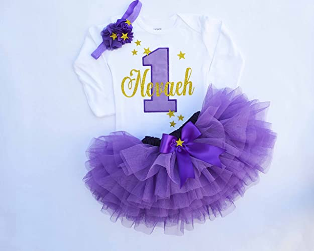 d21e36837 First Birthday Girl,Cake smash outfit girl,purple birthday tutu,twinkle  twinkle little star birthday,girls 1st tutu,Purple and gold birthday, personalized ...