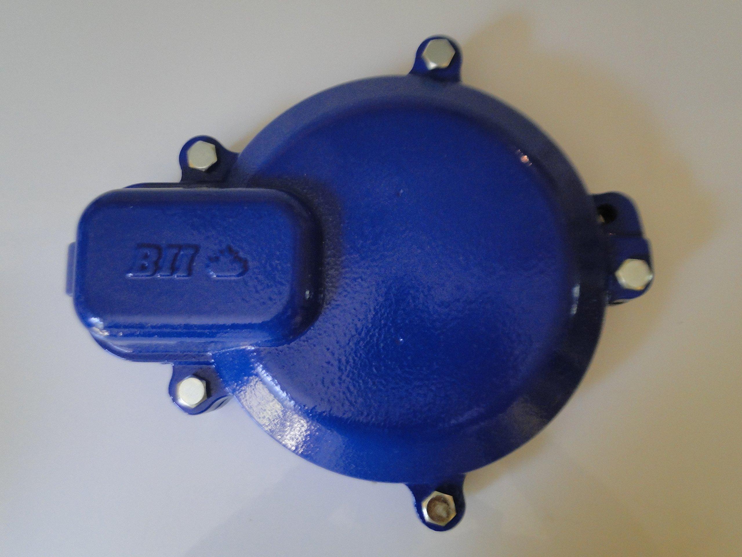 WELL CAP 6'' Watertight CAST IRON Heavy Duty Locking Well Cap by BOSHART INDUSTRIES