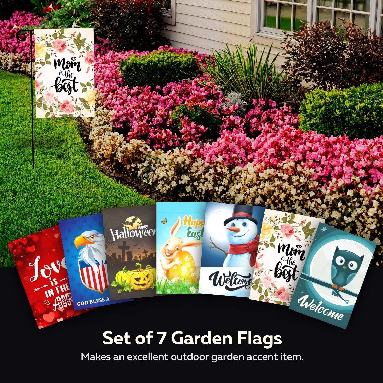 Amazon Garden Flags Happy Halloween Set of 7 Seasonal Outdoor