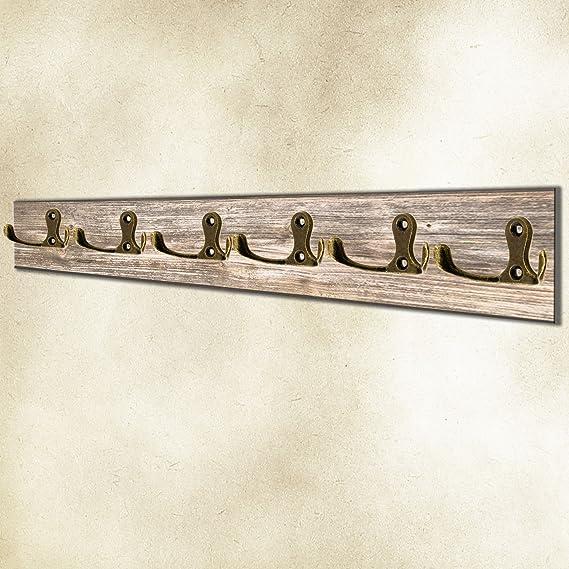 Ganchos cl/ásicos para guardarropa color negro. retro 30 x 27 mm ganchos de metal ganchos para cuadros r/ústico ganchos de hierro FUXXER/® vintage juego de 10 unidades