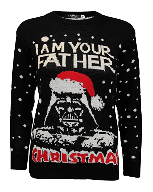 e292856015fd New Ladies Women Unisex Long Sleeve Knitted Xmas Star Wars Vintage ...
