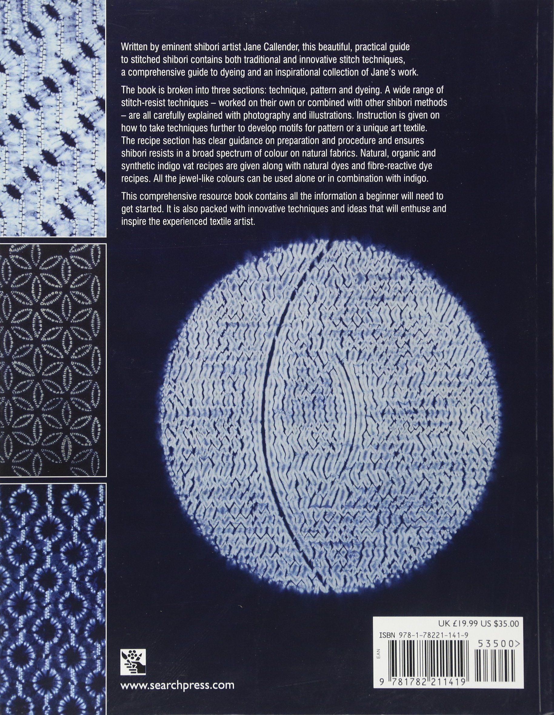 Amazon com: Stitched Shibori: Technique, innovation, pattern