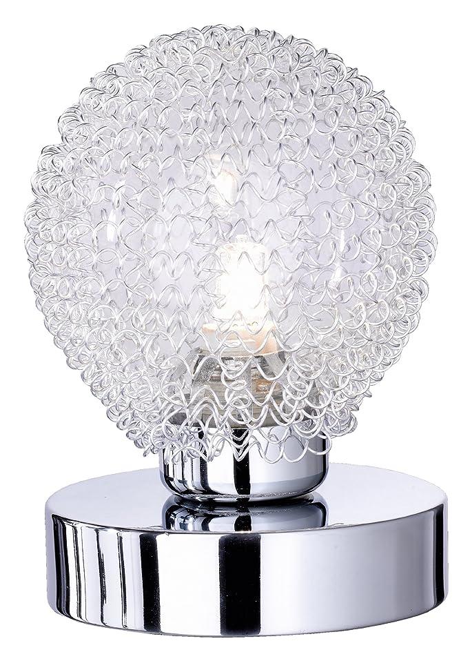 133 opinioni per Reality R59321106 Wire Lampada Tavolo, 1xG9, 28 W Alogena, Cromo/Trasparente