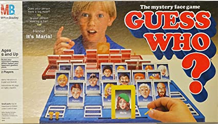 Guess Who? The Mystery Face Game 1987 by Milton Bradley