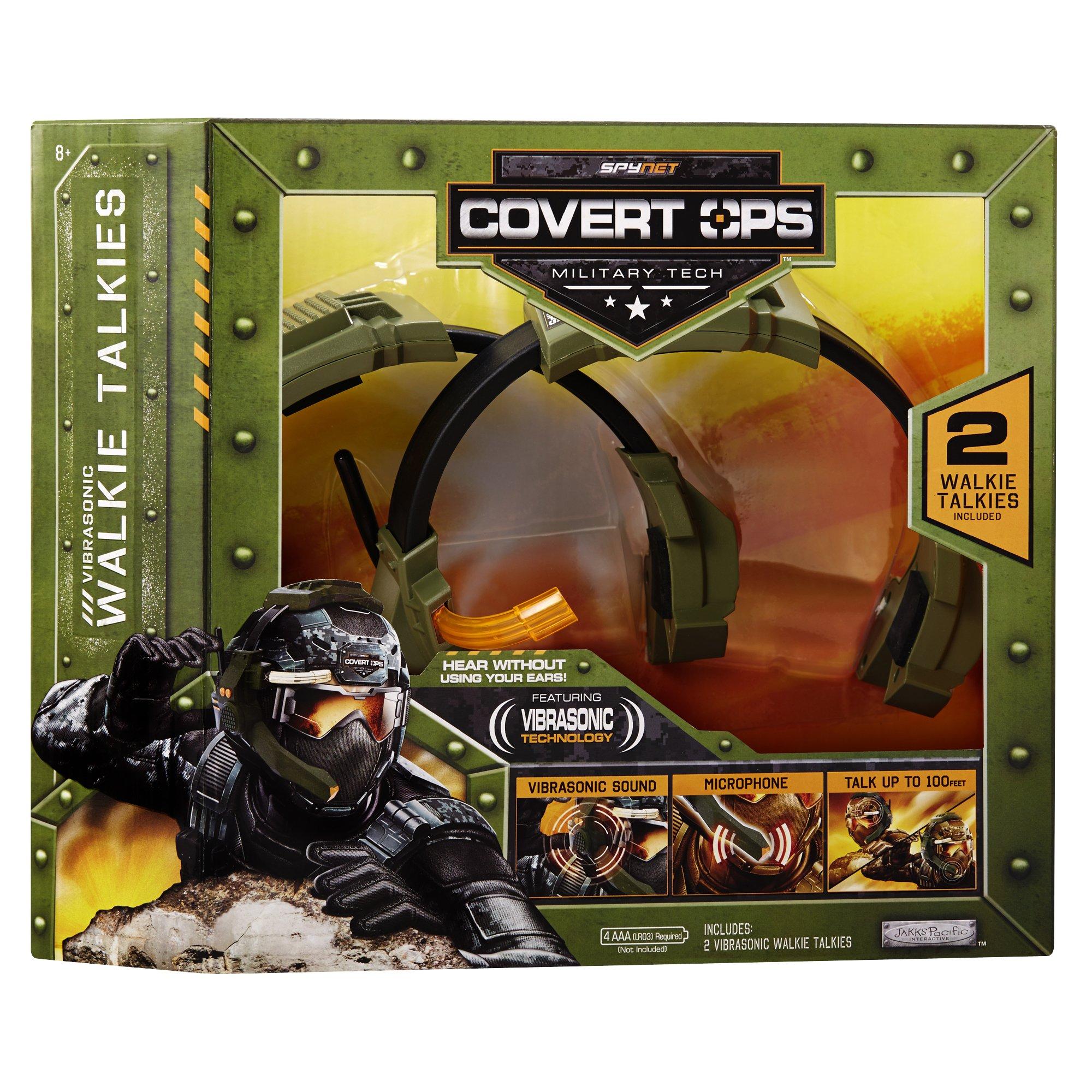 SpyNet Covert Ops Vibrasonic Walkie Talkie, Green by SpyNet (Image #3)