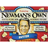 Newman's Own Old Style Picture Show Microwave Popcorn,Butter, 3 Count (Pack of 1)