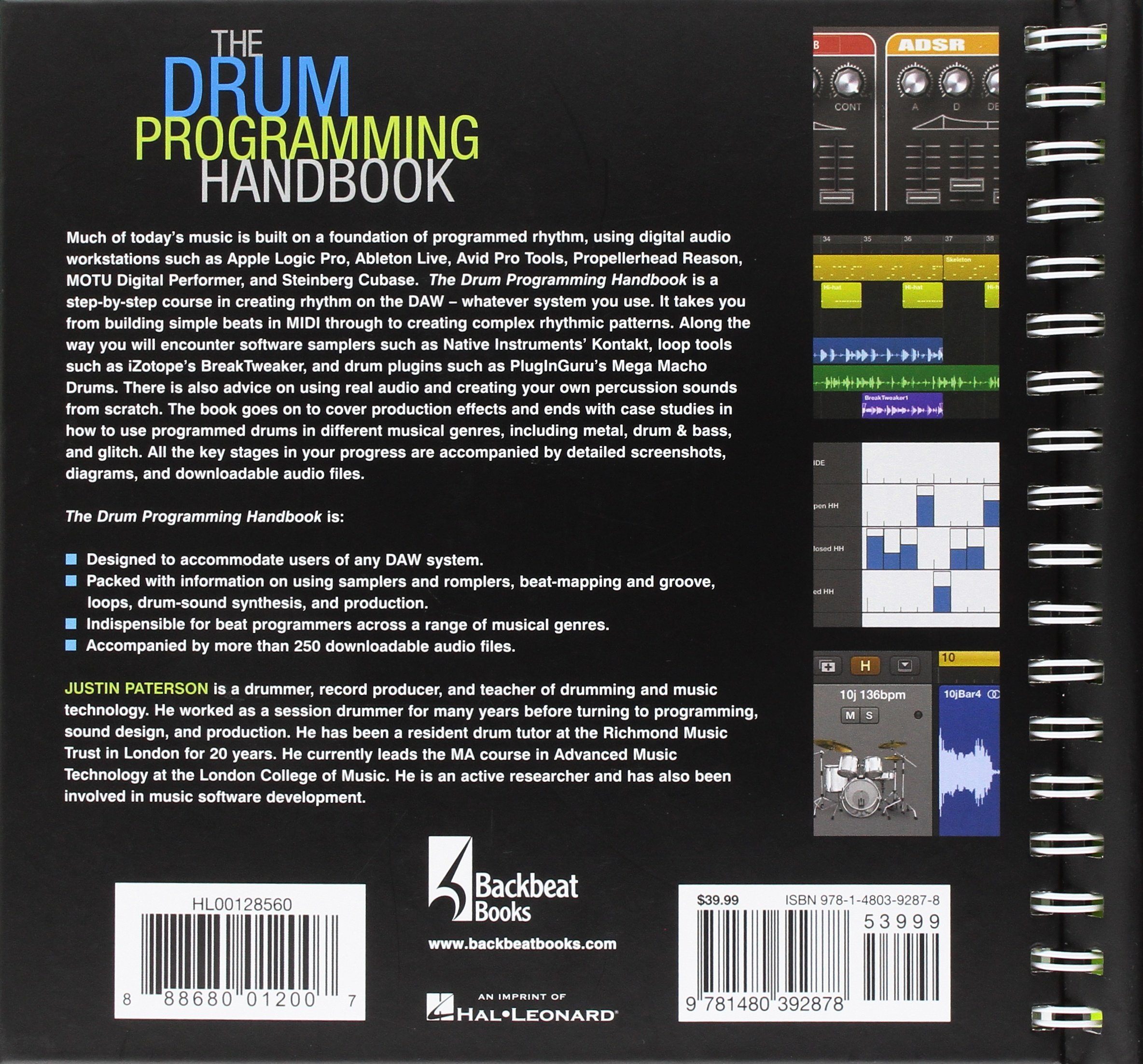 The drum programming handbook the complete guide to creating the drum programming handbook the complete guide to creating great rhythm tracks handbook series justin paterson 0888680012007 amazon books fandeluxe Images