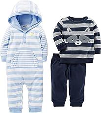 Simple Joys by Carter's´s- Conjunto de pantalón, suéter, y Mameluco, 3 Piezas.
