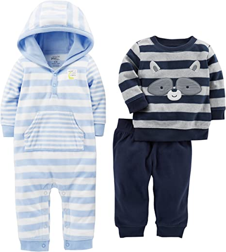 Simple Joys by Carter/'s Baby Boys/' 3-Pack Jumpsuits 3-6 Months Free Shipping
