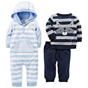 Simple Joys by Carter's Baby Boys' 3-Piece Playwear Set, Blue/Gray, 6-9 Months