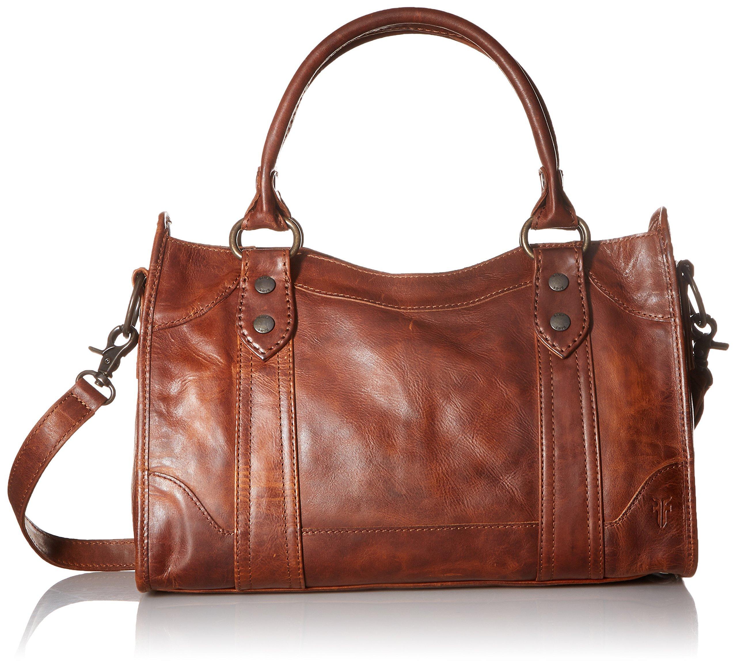 FRYE Melissa Satchel Handbag,Cognac,One Size