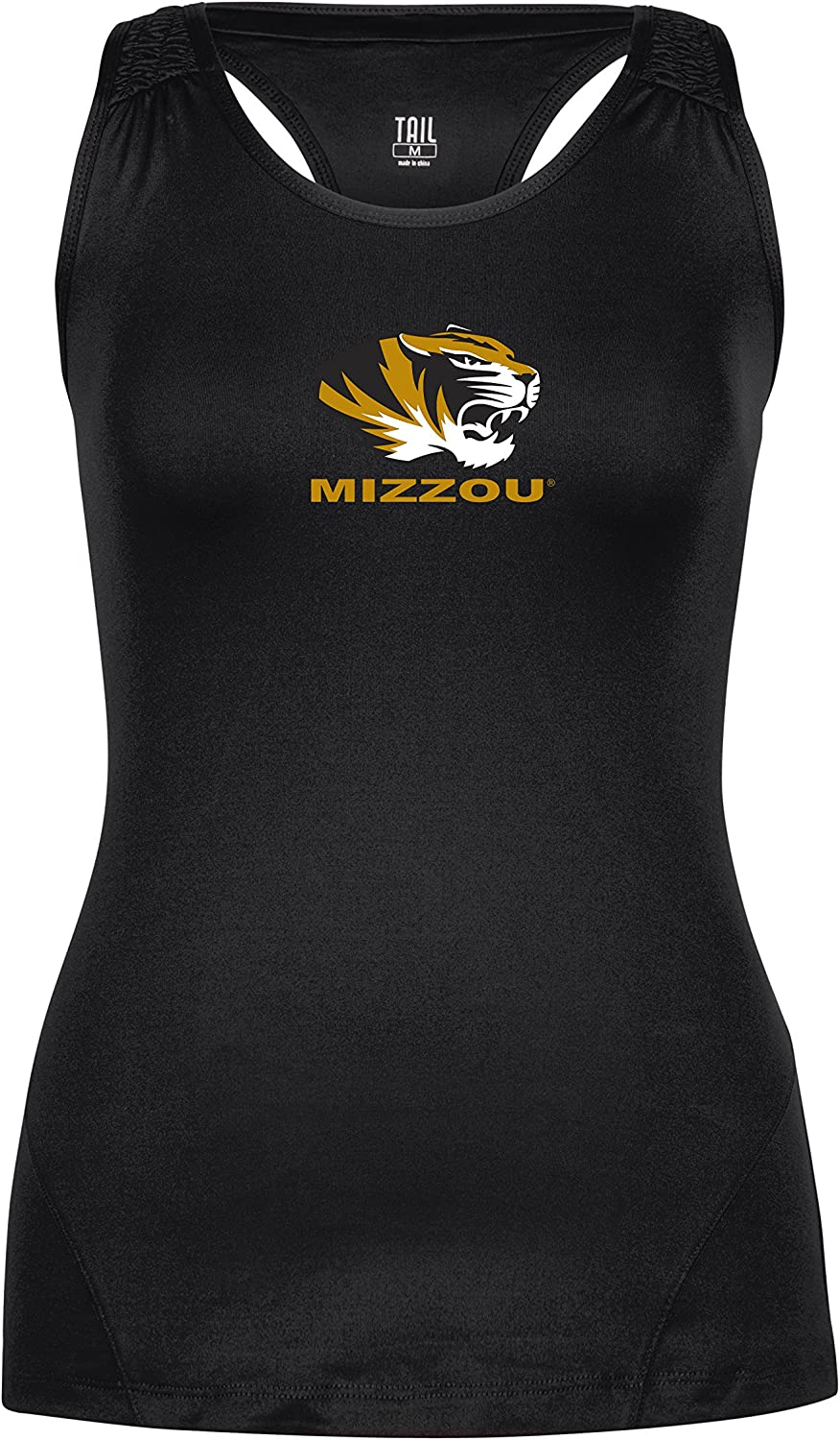 Licensed NCAA Womens Play Hard Racerback Fitted Tank Top Tail ActiveWear