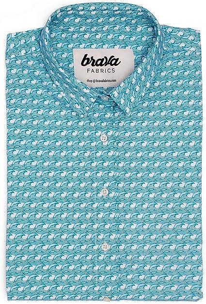 Brava Fabrics | Blusa para Mujer | Camisa Azul Estampada para ...
