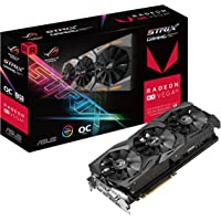 ASUS ROG Radeon RX Vega 56 STRIX-RXVEGA56-O8G-GAMING 8GB 2048-Bit HBM2 PCI Express 3.0 HDCP Ready CrossFireX Support Video Card