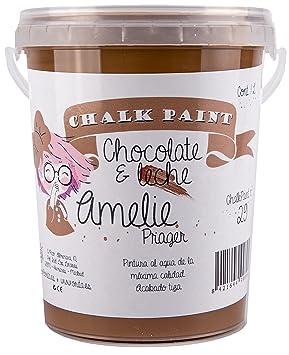 Amelie Prager 1000-29 Pintura a la Tiza, Chocolate con Leche, 1 l: Amazon.es: Bricolaje y herramientas