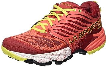 La Sportiva Akasha Rot, Damen Trailrunning- & Laufschuh, Größe EU 39.5 - Farbe Berry Damen Trailrunning- & Laufschuh, Berry, Größe 39.5 - Rot