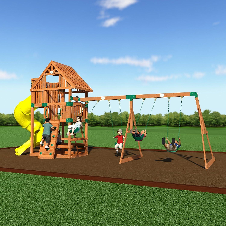 100 backyard discovery monticello cedar swing set backyard