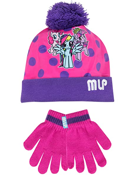 Amazon.com  My Little Pony Girls  My Little Pony Hat and Gloves Set Size 6  - 8 Years  Clothing 2ee1a810fb0