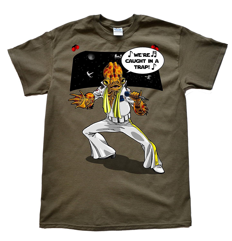 Stooble Men's Ackbar Elvis T-Shirt Stooble - 1ClickPrint