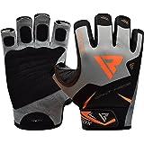 RDX Fitness Handschuhe Trainingshandschuhe Handgelenkschutz Gewichtheben Crossfit krafttraining Sporthandschuhe Bodybuilding Rindsleder workout Gym Gloves