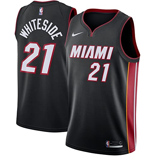 Nike Hassan Whiteside Miami Heat Icon Edition Swingman Jersey - Black  (Medium) 5b5fd3427
